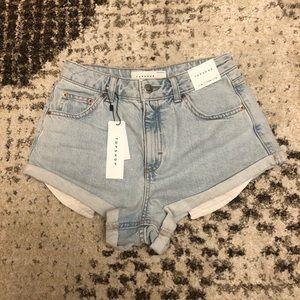 Topshop Bleached Kiki Shorts